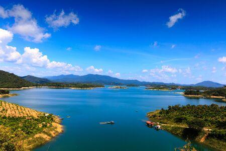 loc: Lake HamThuan print Bao Loc, Lam Dong province, Vietnam