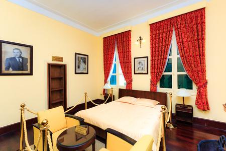 Da Lat city, Vietnam - November 8, 2015: this is bedroom of King Bao Dai palace at one museum. King Bao Dai was the last feudal dynasty emperor of Vietnamese