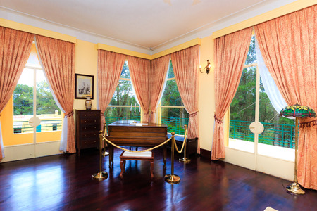 Da Lat city, Vietnam - November 8, 2015: this is bedroom of King Bao Dai palace at one museum. King Bao Dai was the last feudal dynasty emperor of News