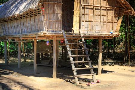 stilt house: Ma Da District, Dong Nai Province, Vietnam - November 19, 2015: a stilt house, built style of Chau Ro ethnic Minority ngi