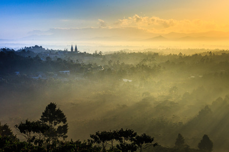 foggy morning at baoloc City, Lam Dong Province, Vietnam. Baoloc is one of famous and beautiful cities for tourist. 1,200m above sea Its about leveling on the Langbian Plateau, Central Highlands region