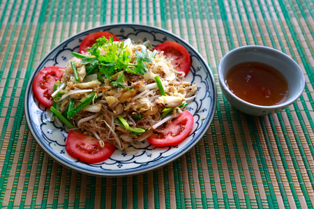bagre: chicken minced vermicelli salad, minced vermicelli mash with spicy. Vietnam food