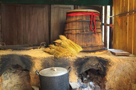 barre: Corn picture traditional brewery Stock Photo