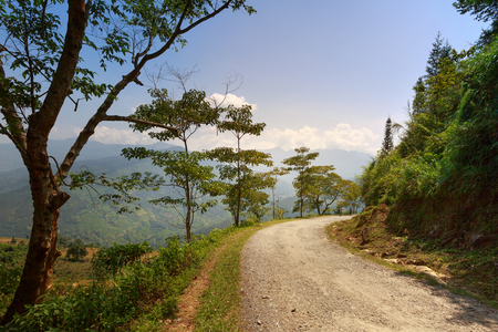 manage transportation: Mountain road. The incredible road between Sapa and Lai Chau
