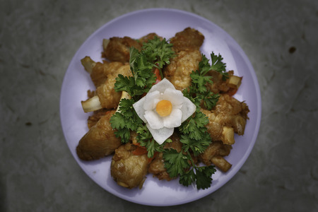 Vietnam vegetarian mock meat made from mushrooms with broccoli and tofu. Suitable for the diet and nutrition, healthy eating and good lifestyle