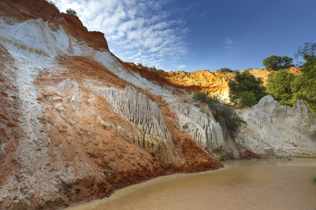 oxides: The natural geological shapes in a canyon called Red Stream, located near the Mui Ne beach of Binh Thuan Province, Vietnam