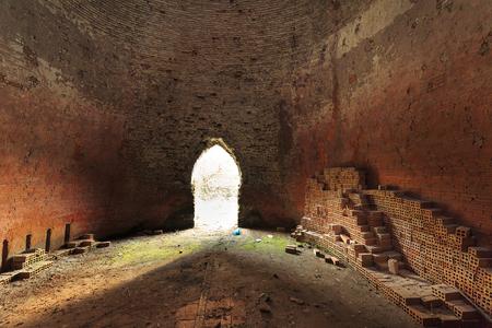 inside an old brick kiln
