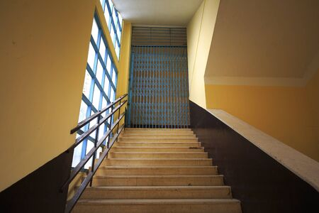 pedagogical: Da Lat town, Viet Nam - February 19th, 2017: Images aisles up stairs of a Pedagogical College in the town of Dalat. Unique architectural works built by the French in 1927