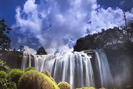 dalat: Elephant waterfall in sunny day at Lam Dong province, Viet Nam