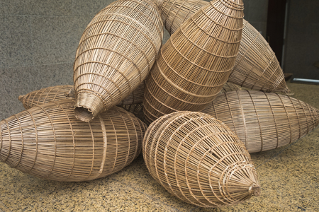 Bamboo equipment for fisherman in the countryside in Asia