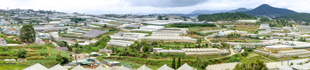 Dalat vegetable farms. View of many greenhouses in Dalat, Vietnam. The agriculture here is very developed Stock fotó - 107721716