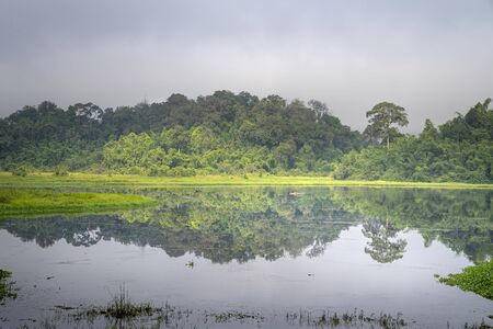 View on crocodile lake in the jungle of Nam Cat Tien national park in Vietnam. This lake is called Bau Sau Stockfoto