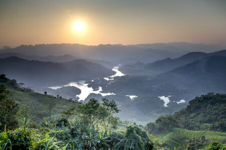 See panoramic photos of amazing ecosystem of Ta Dung lake with wonderful shape of hill around lake in Dak Nong province, Vietnam