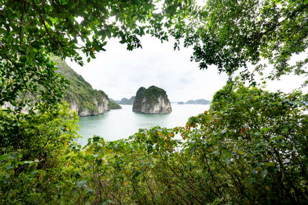 The magnificent scenery of Halong Bay. North Vietnam.