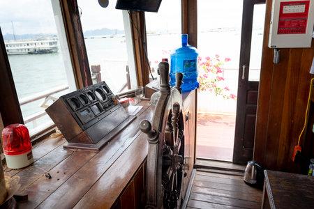 Ha Long Bay Vietnam - July 2, 2020: a cruise ship's cabin on Halong Bay