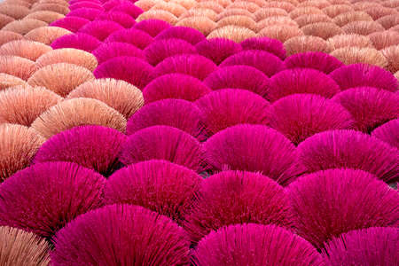 Ung Hoa incense are doing the incense drying process. This is a famous craft incense