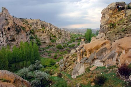 ancient settlements in Cappadocia region of modern-day Turkey
