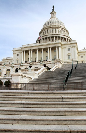 A view of the US capitol building Stock Photo