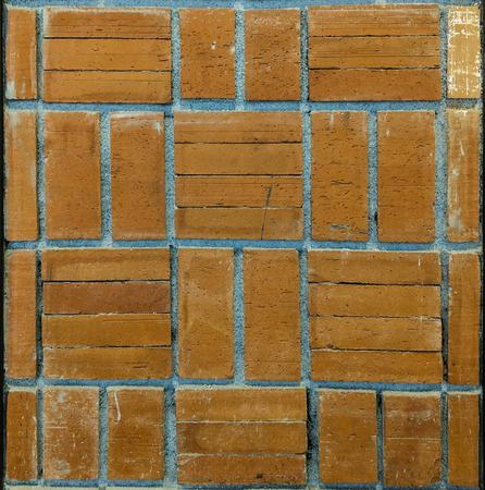 Brick block wall pattern background.