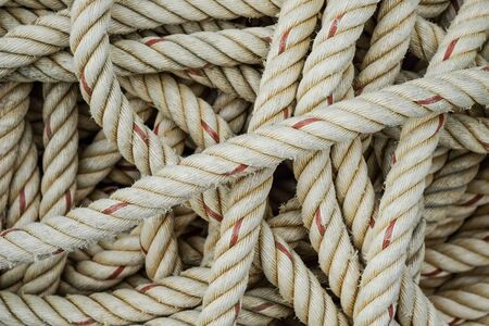 Background of rough rope for towing large boats.