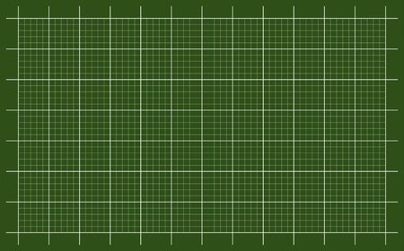 Cutting mat vector with white grid and green background.