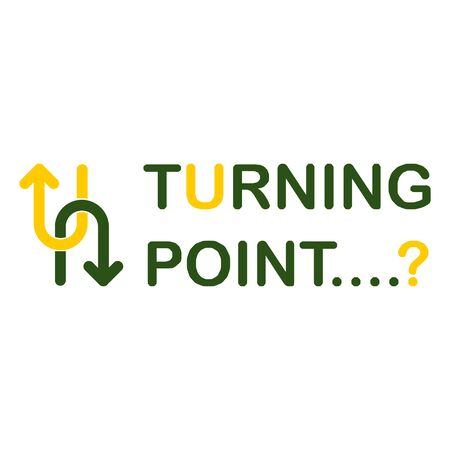 Concept of a turning point Shown using the U-turn symbol Combined with straight lines showing different approaches Show concepts at where someone need to decide on the right path. Ilustração