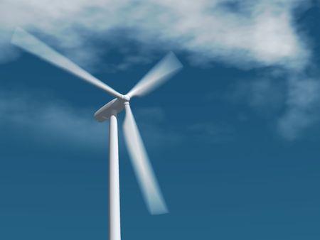 single isolated wind turbine generator Stock Photo