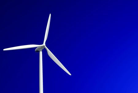 wind turbine isolated on a clear sky in very high resolution
