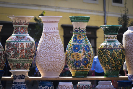 Pottery on market