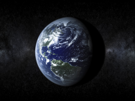 Planet Earth View from Space Stock Photo