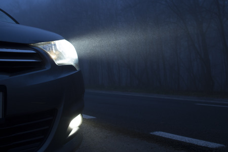 Car Lights Stock Photo