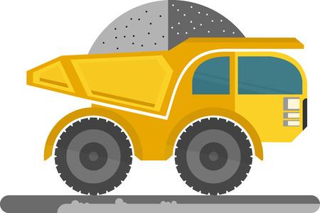 ore: Yellow truck transports ore.