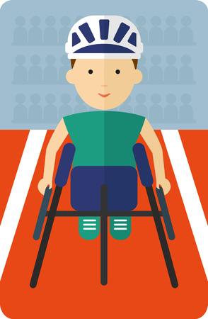 paraplegic: Racer para sillas de ruedas participa en competiciones