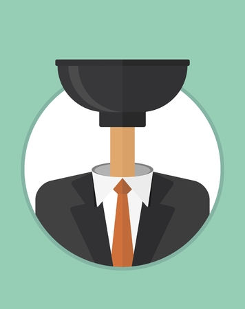 dumb: Dumb Head, manager does not understand his work. No related posts.The character of the CEO. Business People icons. Faces avatars. Flat style vector icons set