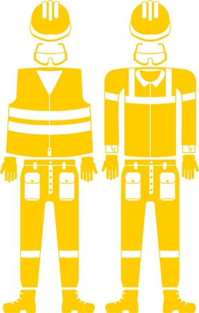 work clothes: Vector set of work clothes. Objects for protection while working in the industry.Cartoon flat vector illustration. Illustration