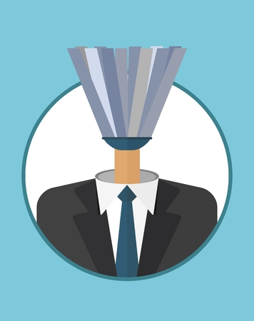 unable: Spineless, gutless, unable Head, manager.The character of the CEO. Business People icons. Faces avatars. Flat style vector icons set
