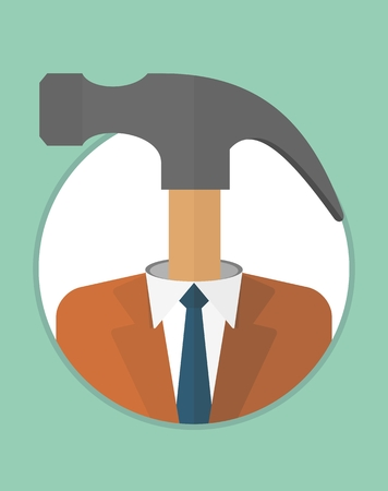 severity: Rigid, self-willed leader, manager. The character of the CEO. Business People icons. Faces avatars. Flat style vector icons set