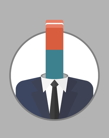 weak: A weak leader, manager. The character of the CEO. Business People icons. Faces avatars. Flat style vector icons set