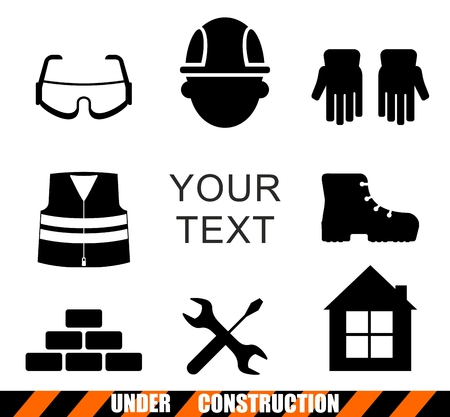 Set of construction tools.Cartoon flat vector illustration. Objects isolated on a background. 向量圖像