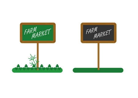wholesome: Tablet farm market for sale healthy wholesome food. Farmers and gardeners agriculture concept cartoon flat vector illustration. Objects isolated on a background. Illustration