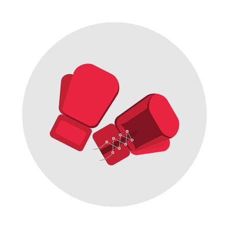 active lifestyle: Boxing gloves icon. Sports equipment items. Active lifestyle. Objects isolated on a white background. Flat vector illustration. Illustration