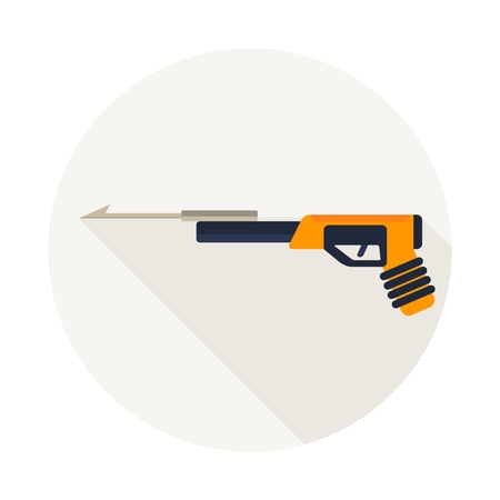 harpoon: Harpoon for diving. Diving equipment. Objects isolated on background. Flat and cartoon vector illustration. Illustration