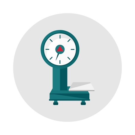 Household scales on a grey backgroundObjects isolated on background. Flat and cartoon vector illustration.