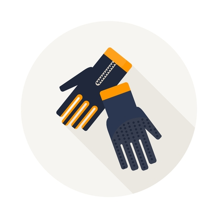 Gloves for diving. Diving equipment. Objects isolated on background. Flat and cartoon vector illustration.