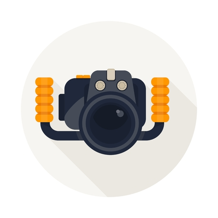 diver: Cartoon flat vector illustration. Objects isolated on a white background.