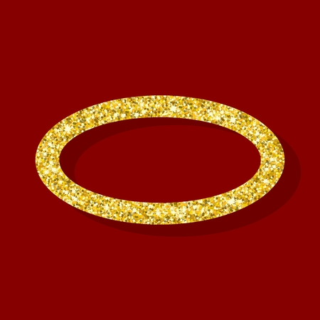 golden ring: Golden ring. Element for greeting cards for wedding, new year, birthday, holiday, celebration. Flat vector illustration. Objects isolated on a background.