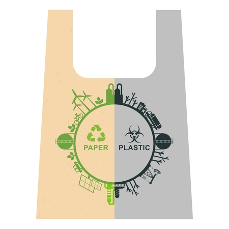 abstract recycle arrows: Vector ecology concept. Problem of plastic recycling. Environmentally friendly materials. Objects isolated on a white background. Flat cartoon illustration. Illustration