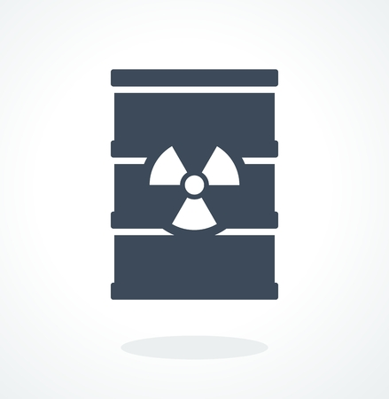 barrels with nuclear waste: Barrel with toxic waste. Flat cartoon barrel icon. Objects isolated on a white background.