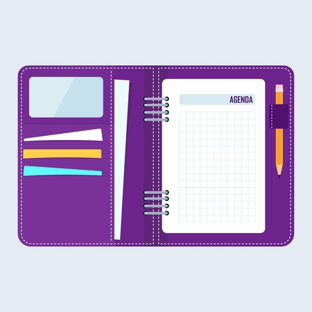 agenda: Agenda concept. Notebook for planning business plans, meetings, negotiations.