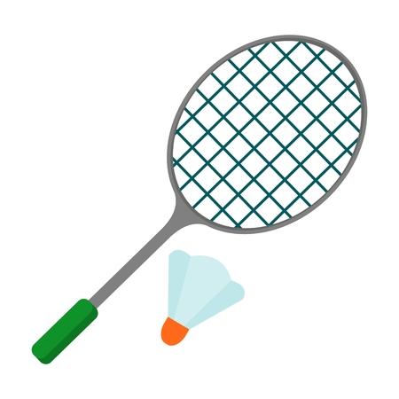 badminton racket icon Vectores